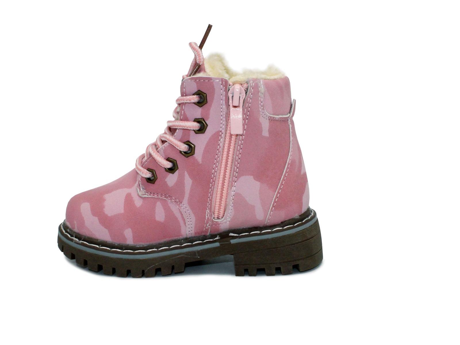ea12678b2 Ботинки Шалунишка для девочек розовые милитари эко кожа 27 - 28 ...